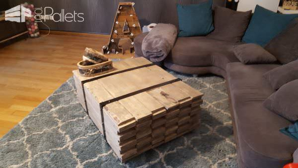 Stacked Wood Coffee Table DIY Pallet Video Tutorials Pallet Coffee Tables