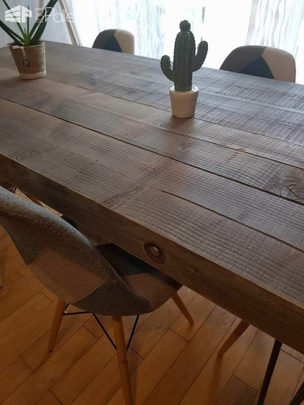 Upcycled Wood Dinner Table Pallet Desks & Pallet Tables