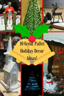 10 Pallet Holiday Decor Ideas You Created 1001 Pallets