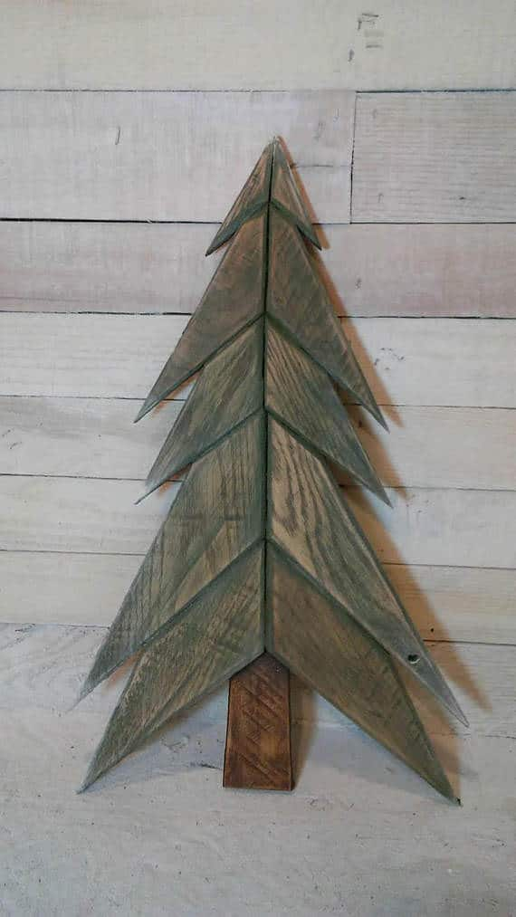 this little angled tree with angled branches is perfect for your pallet christmas decor - Wood Pallet Christmas Tree