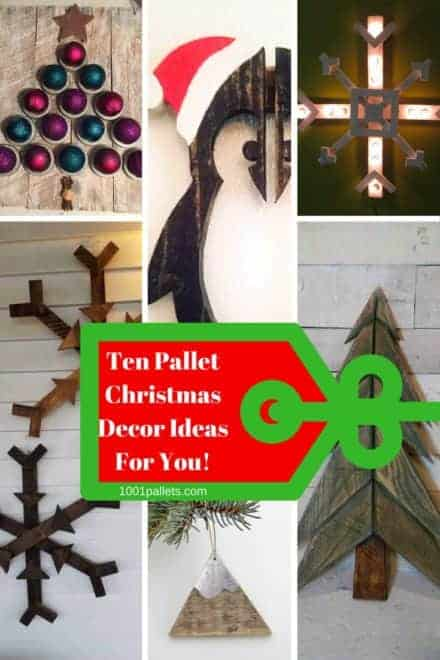 10 Unique Pallet Christmas Decor Ideas 2017