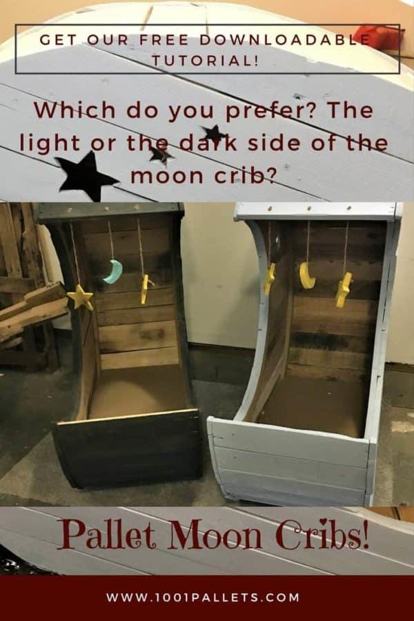 Another Adorable Pallet Moon Crib Pair!