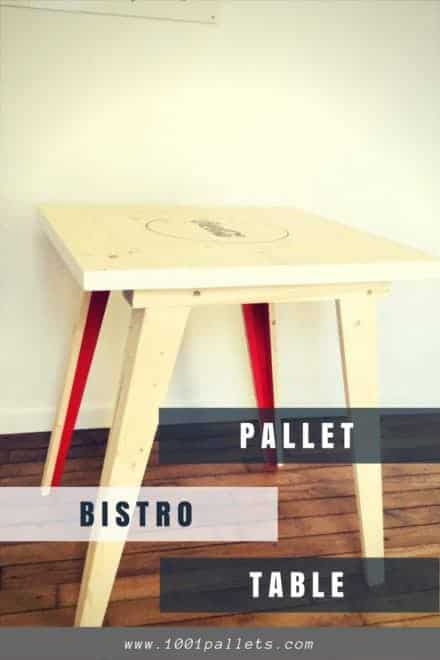 Beautiful Pallet Bistro Table With Soda Pop Logo