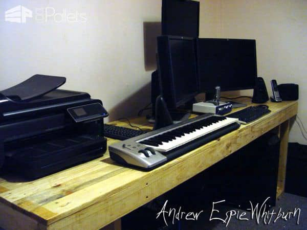 Adapt This Pallet Computer Desk Idea To Your Needs Use My Techniques Size The