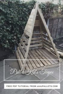 Easy Pallet Kid S Teepee Free Pallet Tutorials 1001