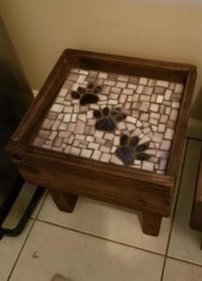 Mosaic Inlay Raised Pallet Dog Bowl Tables 1001 Pallets