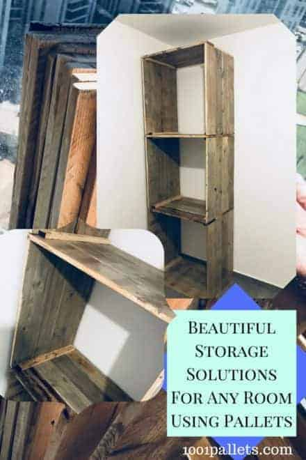 Pallet Closet Shelving Adds Flexible Storage!