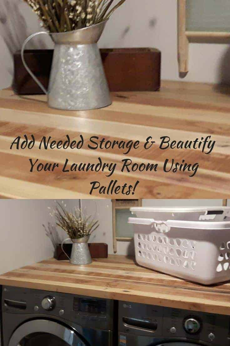 Pallet Countertop Makes Laundry Room Gorgeous!