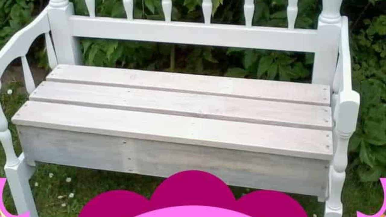 Groovy Pallet Wood Garden Bench Made With Two Headboards 1001 Pdpeps Interior Chair Design Pdpepsorg