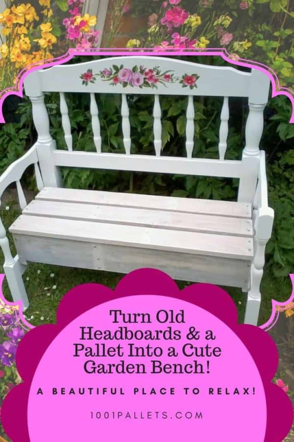 Pallet Wood Garden Bench Made With Two Headboards!