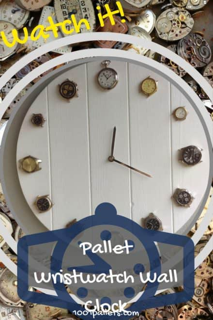Pallet Wrist Watch Clock Upcycles Pocketwatches Too!