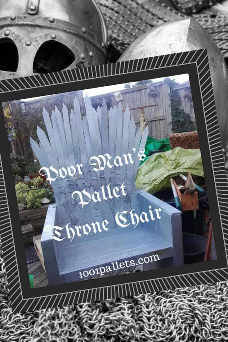 Poor Mans Pallet Iron Throne Chair For Your Man Cave