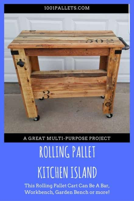 Rustic Mobile Pallet Island Or Pallet Bar