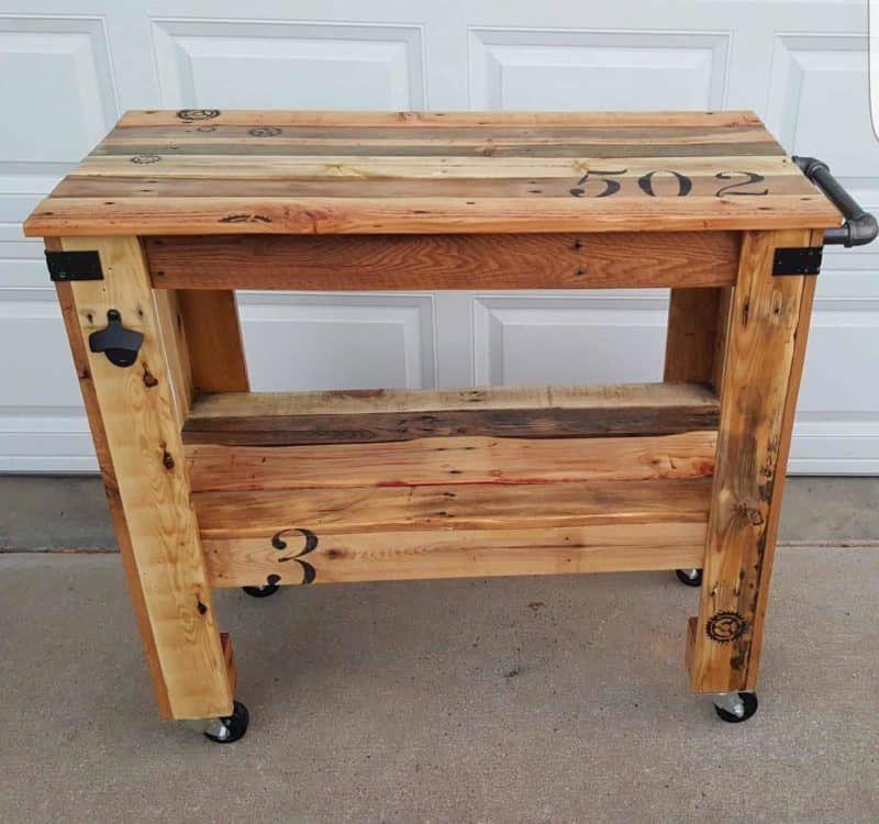 Rustic Mobile Pallet Island Or Pallet