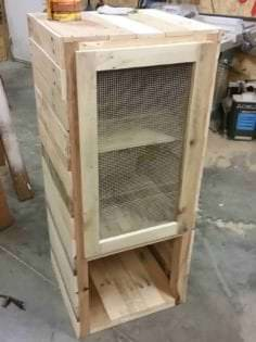 Rustic Pie Safe Pallet Cabinet Adds Charm & Storage ...