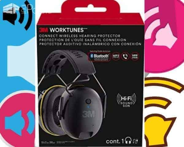 Pallet Tools should ALWAYS include safety gear like this bluetooth-connectivity hearing protector ear muffs.