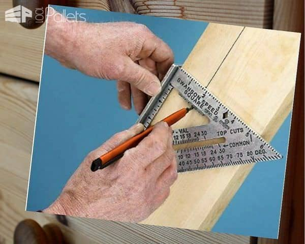 A speed square is a Pallet Tools item that is low-cost and adds huge benefits to your projects.