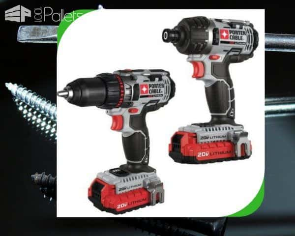 A Pallet Tools handyman's dream: A set of Porter Cable cordless drills & impact drivers!