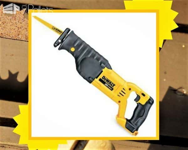 Add power to your Pallet Tools with a reciprocating saw for quick pallet dismantling.