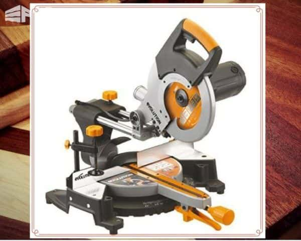 A Pallet Tools awesome arsenal includes a compound miter saw.