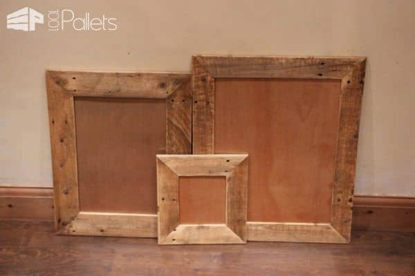 Make these pallet picture frames - great Pallet Ideas Oct 2017 gift ideas.