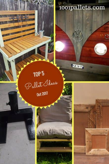 Top 5 Pallet Ideas Oct 2017 That You Picked!