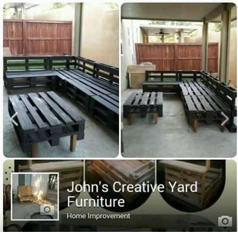 Use Facebook Marketplace to find Pallet Furniture.