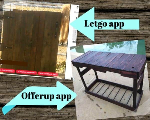 You can find great deals on Pallet Furniture by using phone apps such as letgo and offerup.