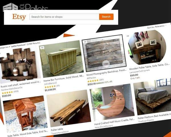 Etsy is a very large source of an array of Pallet Furniture.