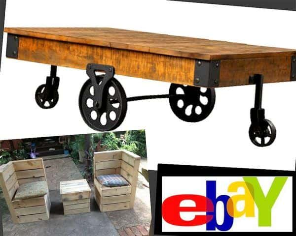 eBay is an online garage sale site that allows individuals and pro crafters to sell their Pallet Furniture.