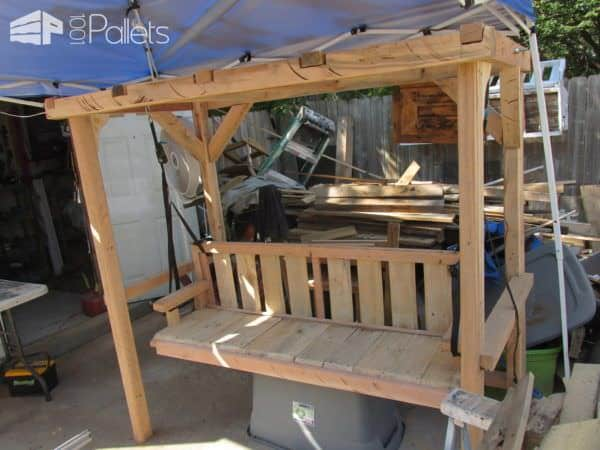 Don't sand those saw blade marks away - they add character and rustic charm to your Pallet Arbor.