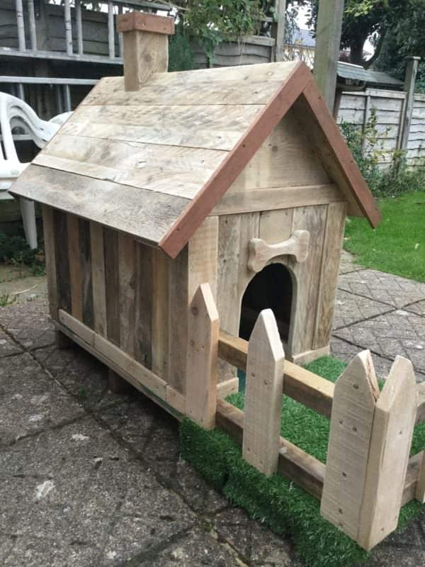 This cute little Pallet Doghouse will give your buddy a place to cuddle up on cool nights.