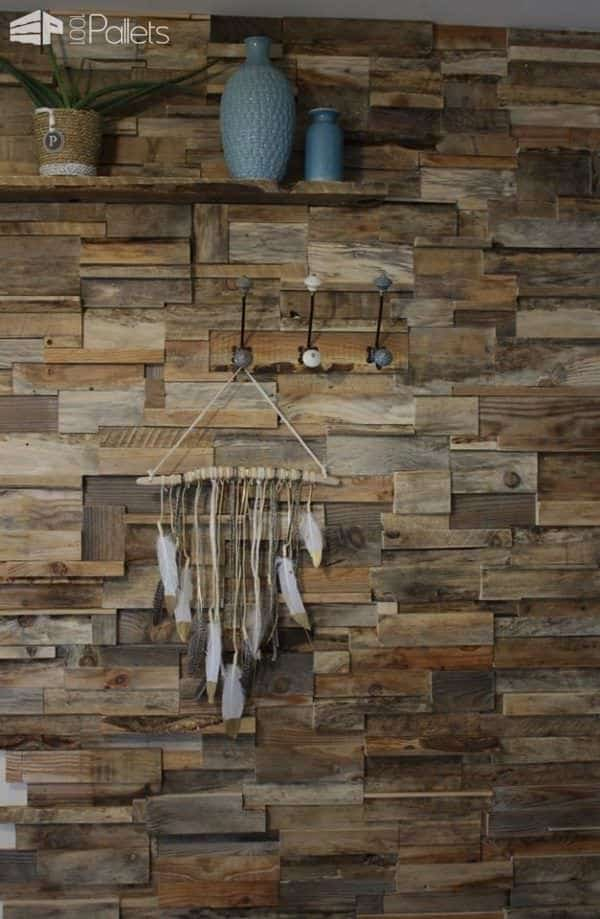 Install This Diy Pallet Wall For Less Than 50 Dollars