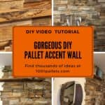 Install This DIY Pallet Wall for Less than 50 Dollars!
