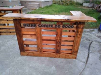 Do Good Build This Pallet Coffee Bar 1001 Pallets