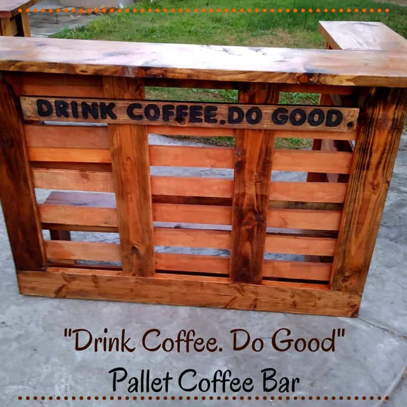 Do good build this pallet coffee bar 1001 pallets for How to build a coffee bar