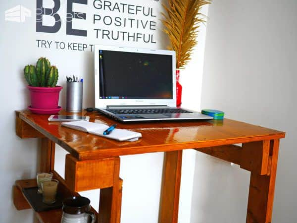 Make a Easy Pallet Desk using less than two pallets.