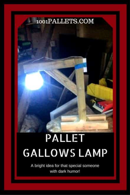 Hang-em-high Pallet Gallows Lamp, Table Lamp