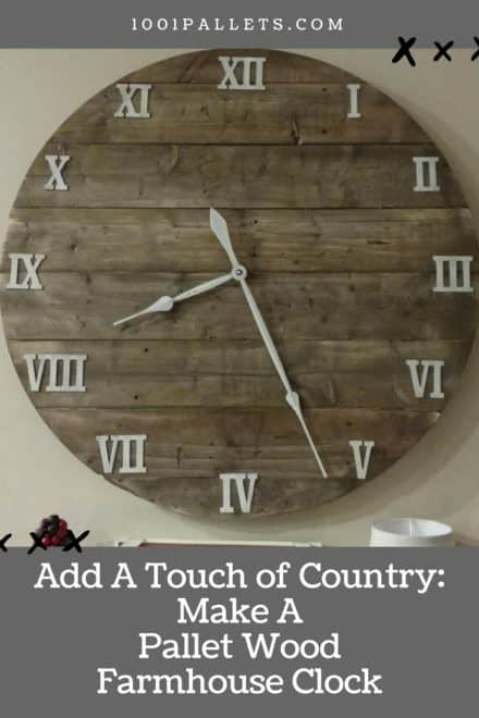 "Make This Budget-friendly 40"" Pallet Farmhouse Clock"