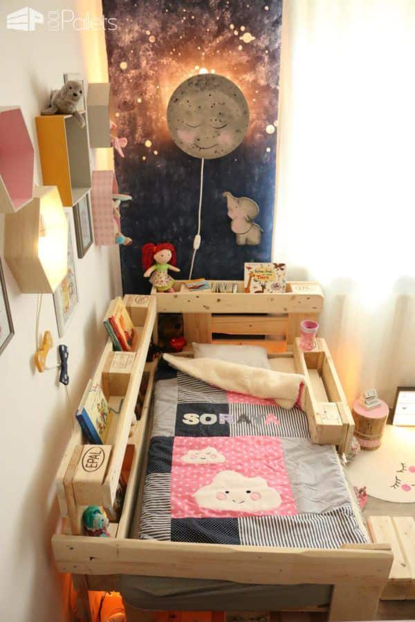 romantic toddler bed with pallets 1001 pallets. Black Bedroom Furniture Sets. Home Design Ideas