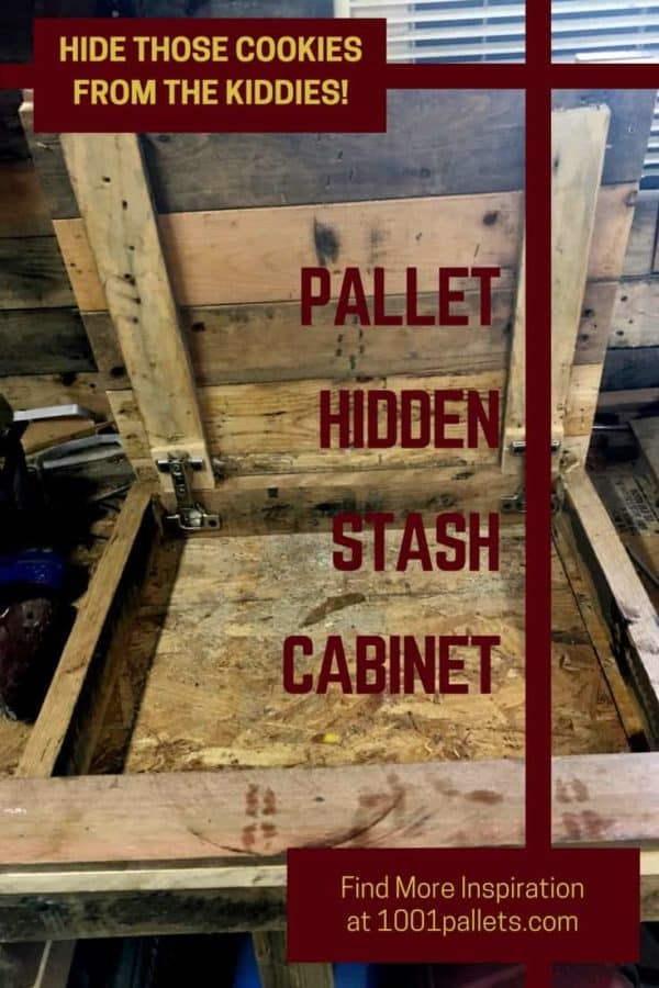 Pallet Cabinet Storage Solution For Small Spaces