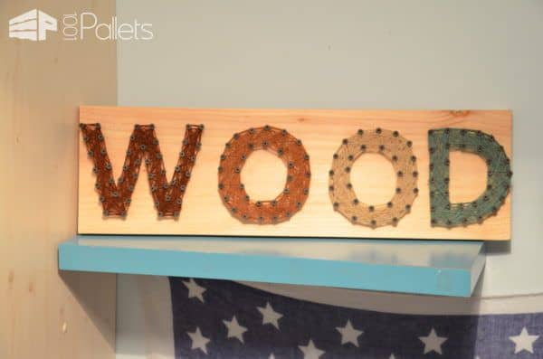 Make a Pallet Woven Deco Frame and have the kids make custom wall art with their names or highlight their interests.