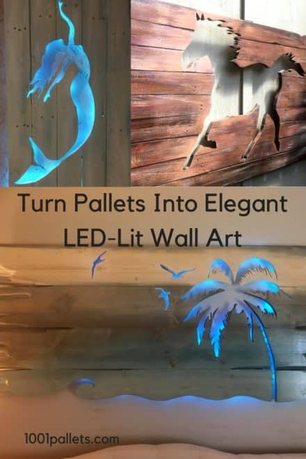 Stormy Night Pallet Wood Led-lit Wall Art