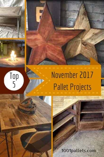 Top 5 November Pallet Crafts of 2017 You Picked!