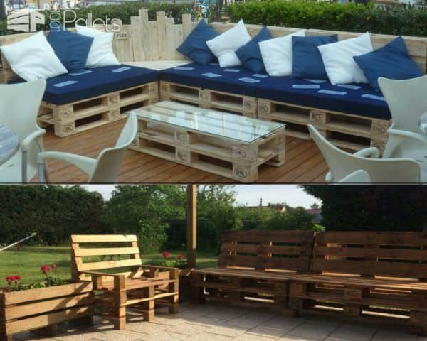 Relax to the max when you Recycle Old Pallets into outdoor lounges, sofas, home theater seating and more.