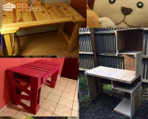 Another amazing way to Recycle Old Pallets is to use them for kid's desks. Don't forget about adult's desks, too!