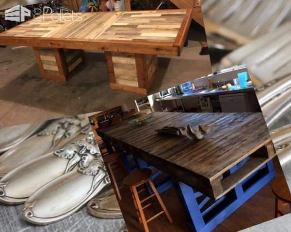 Skip the store-bought junk and Recycle Old Pallets into outstanding pallet dining tables.