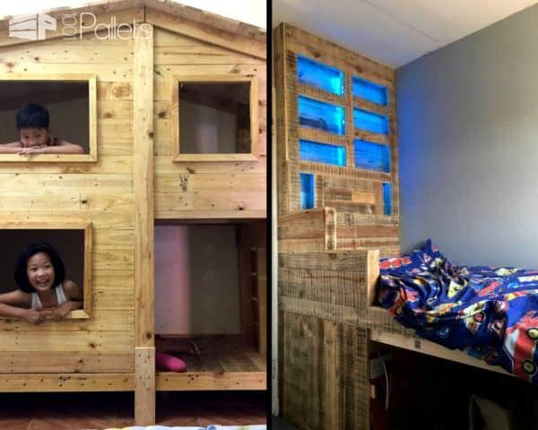 When you Recycle Old Pallets into bunk beds and kid's cabins, you'll guarantee hours of fun for your young ones!