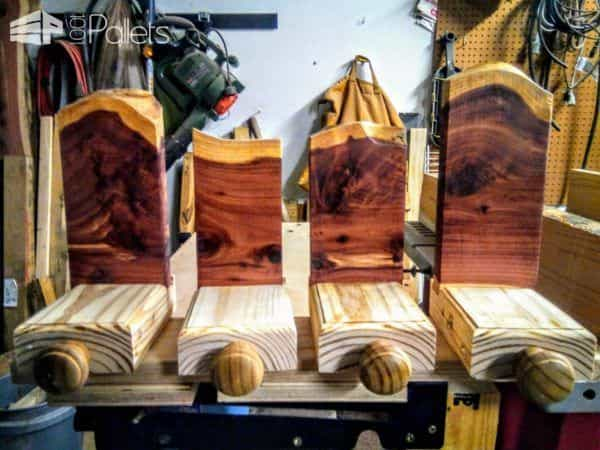 Use a dado blade on your table saw to make consistent channels for the wood backers when you make Pallet Wood Stocking Hangers.