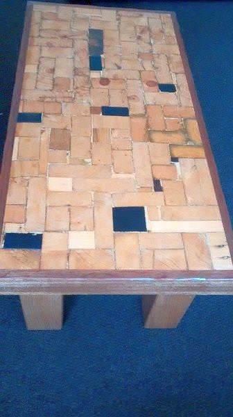Create an End-grain Coffee Table using scrap bits of upcycled lumber.